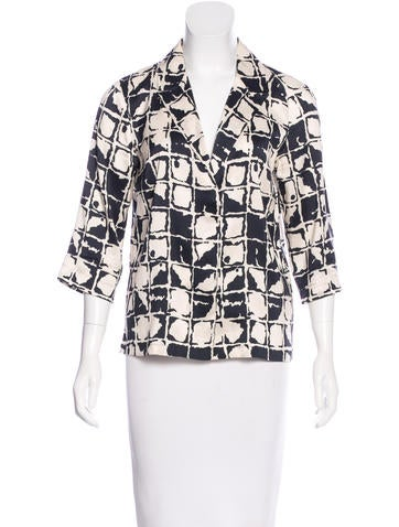 Dries Van Noten Printed Silk Top None