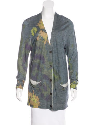 Dries Van Noten Floral-Pattered V-Neck Cardigan None