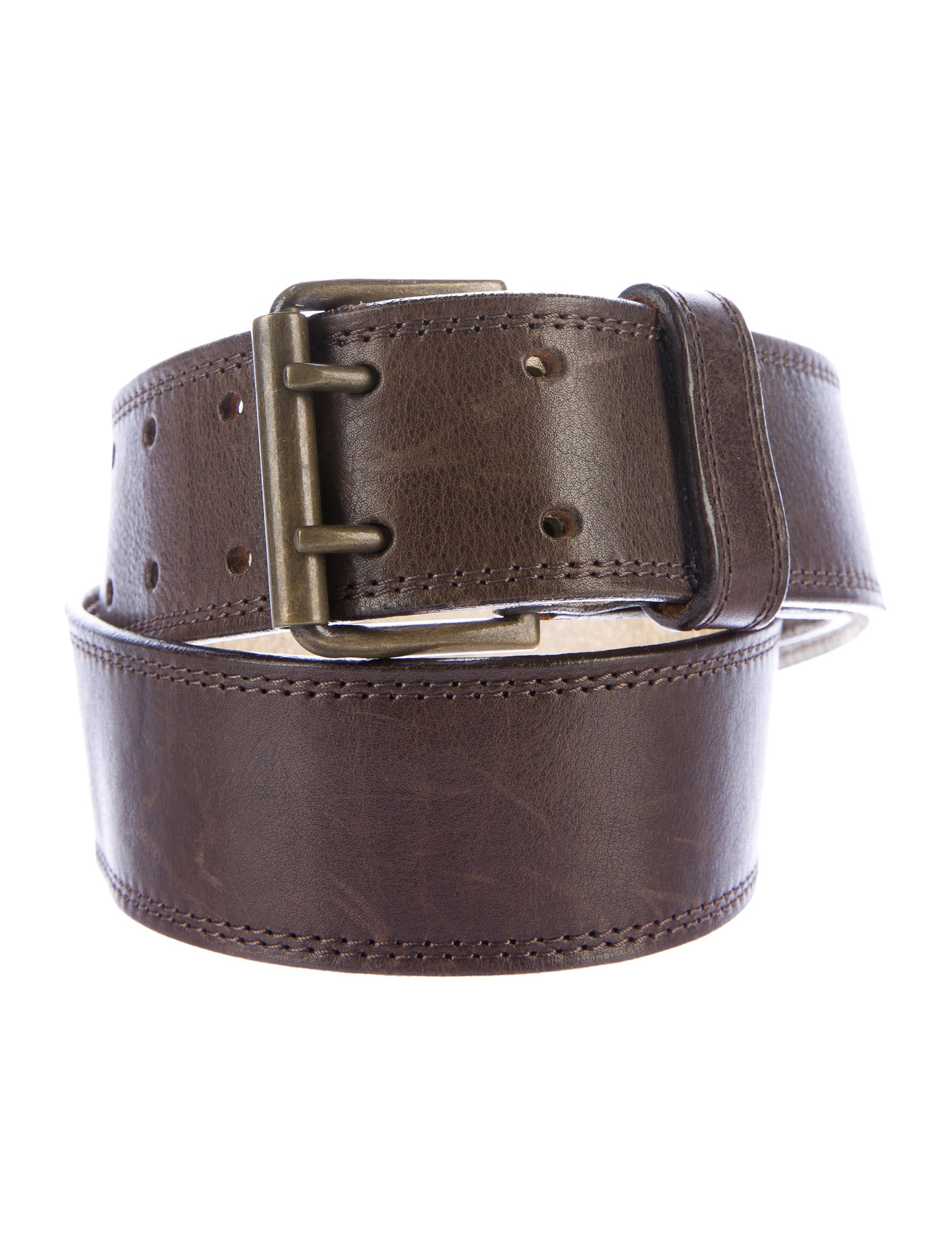 dries noten metallic trimmed leather belt