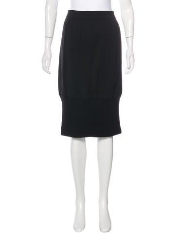 Dries Van Noten Wool Knee-Length Skirt None