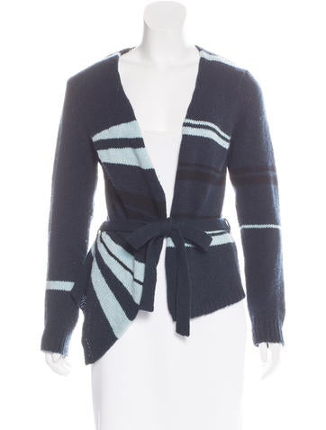 Dries Van Noten Striped Wool Cardigan None