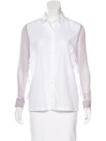 Dries Van Noten Long Sleeve Button-Up Top None