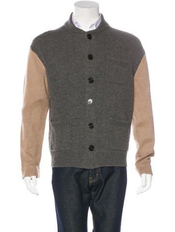 Dries Van Noten Wool-Blend Contrast Cardigan None