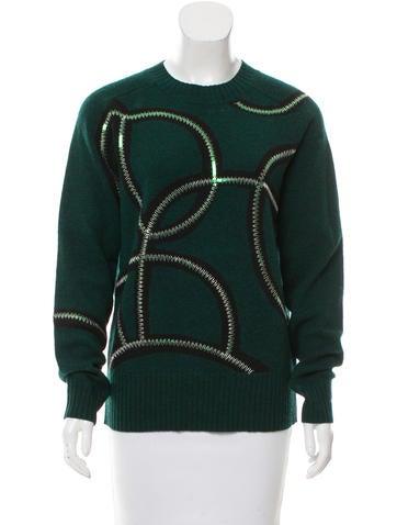 Dries Van Noten Sequined Wool Sweater None