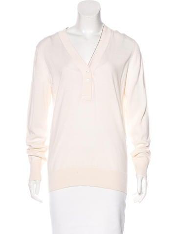 Dries Van Noten Wool-Blend Zipper-Accented Sweater None