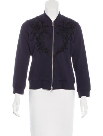 Dries Van Noten Embroidered Bomber Jacket None