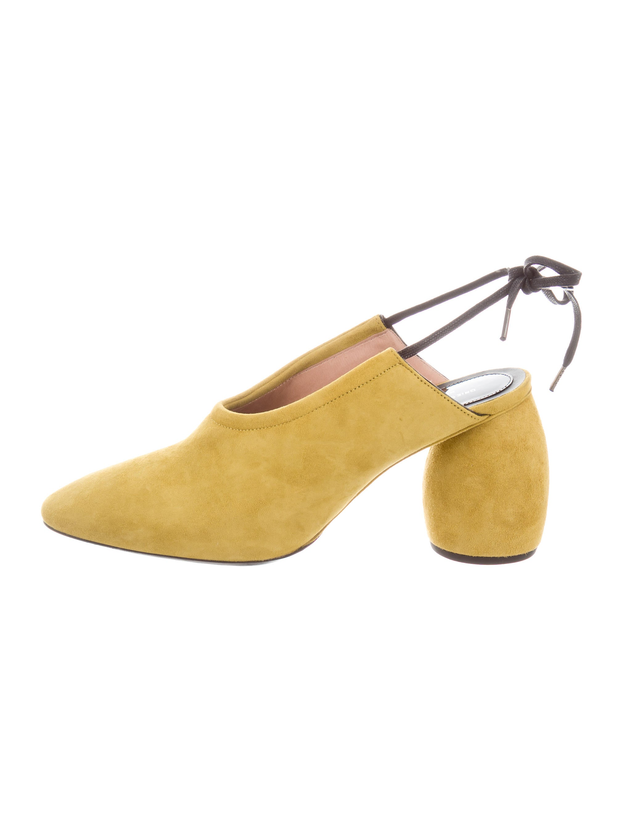 8bd459472d4e Dries Van Noten Suede Slingback Pumps w  Tags - Shoes - DRI37931 ...