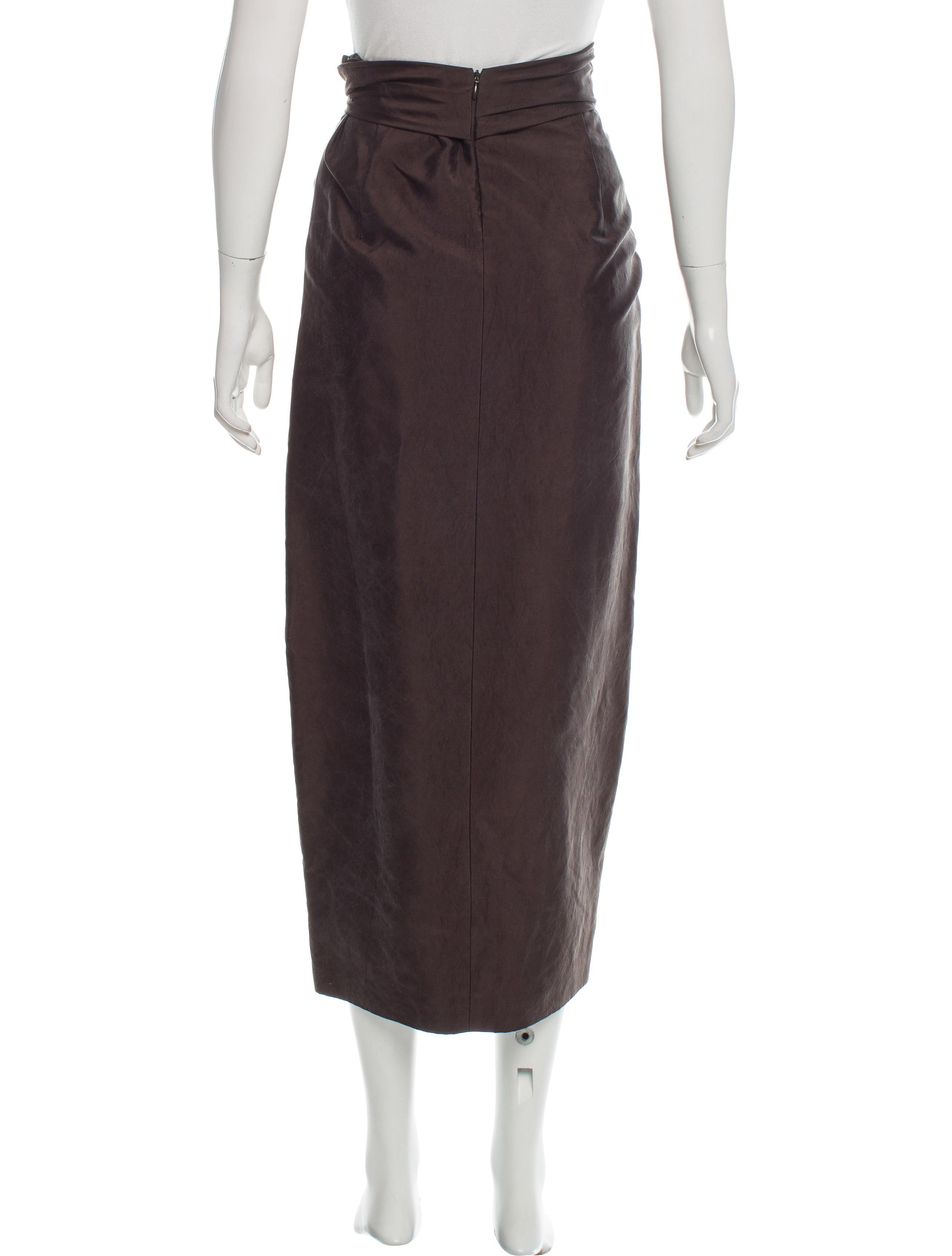 dries noten silk midi skirt clothing dri37965