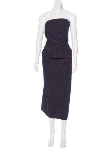 Dries Van Noten Strapless Evening Dress None