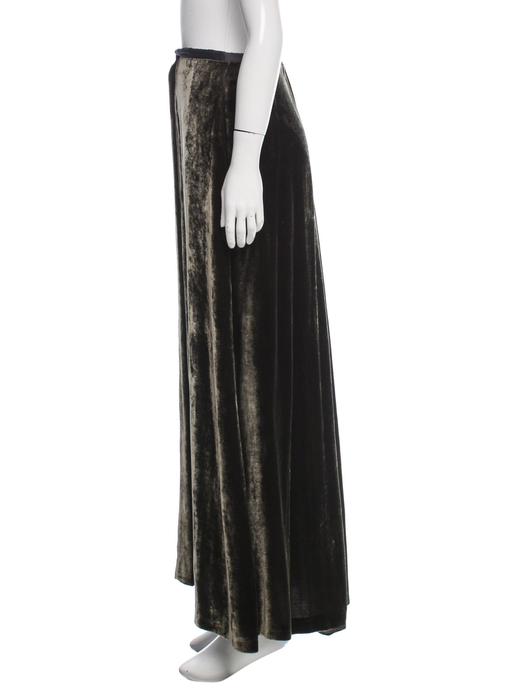 dries noten velvet maxi skirt clothing dri38077