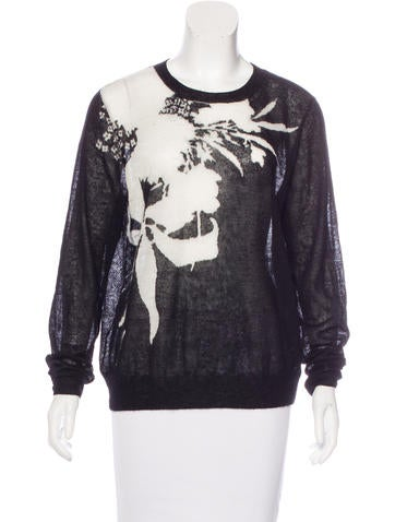 Dries Van Noten Mohair-Blend Patterned Sweater None