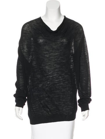 Dries Van Noten Wool Long Sleeve Sweater None