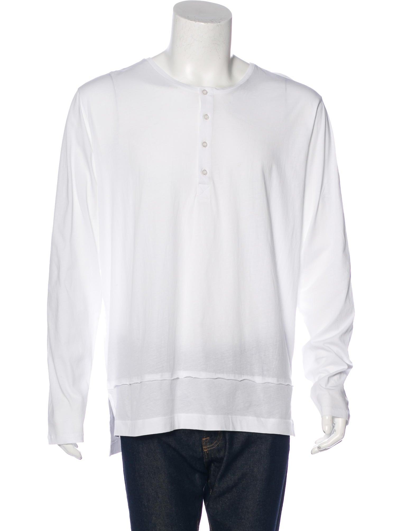 Dries van noten long sleeve henley t shirt clothing for Henley t shirt long sleeve