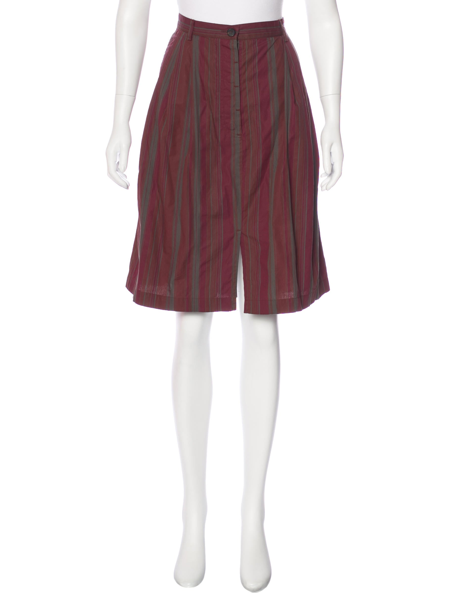 dries noten striped pleated skirt clothing