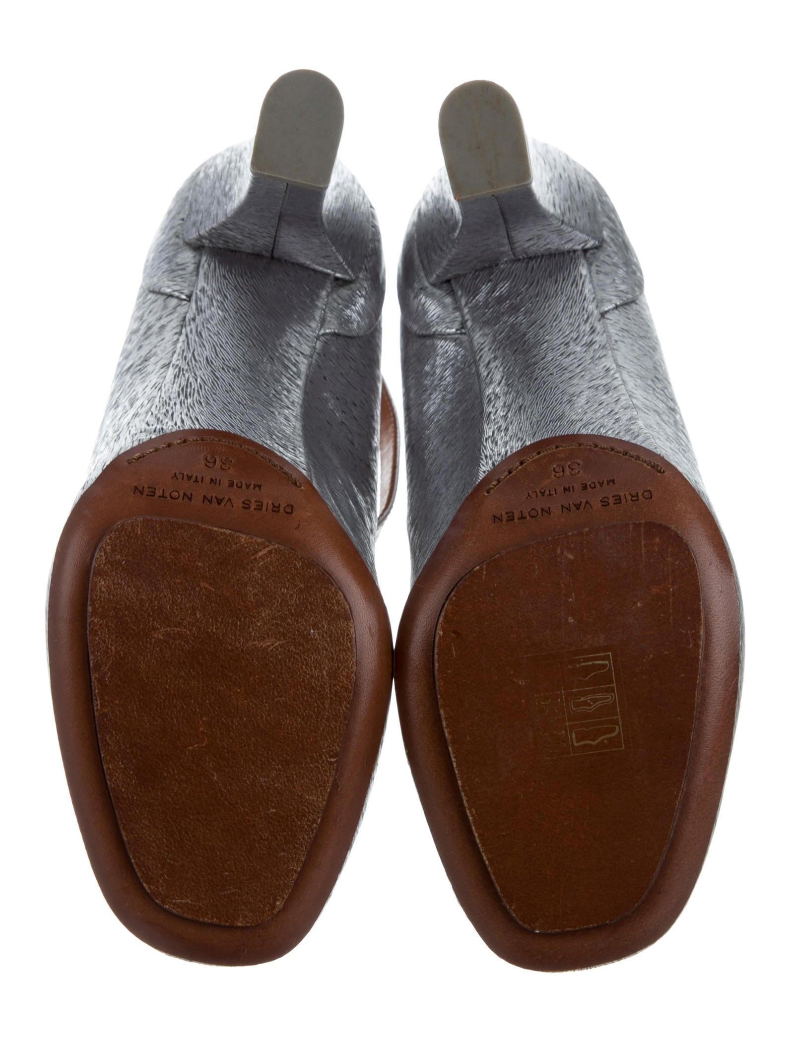 Dries Van Noten Silver Shoes Pumps