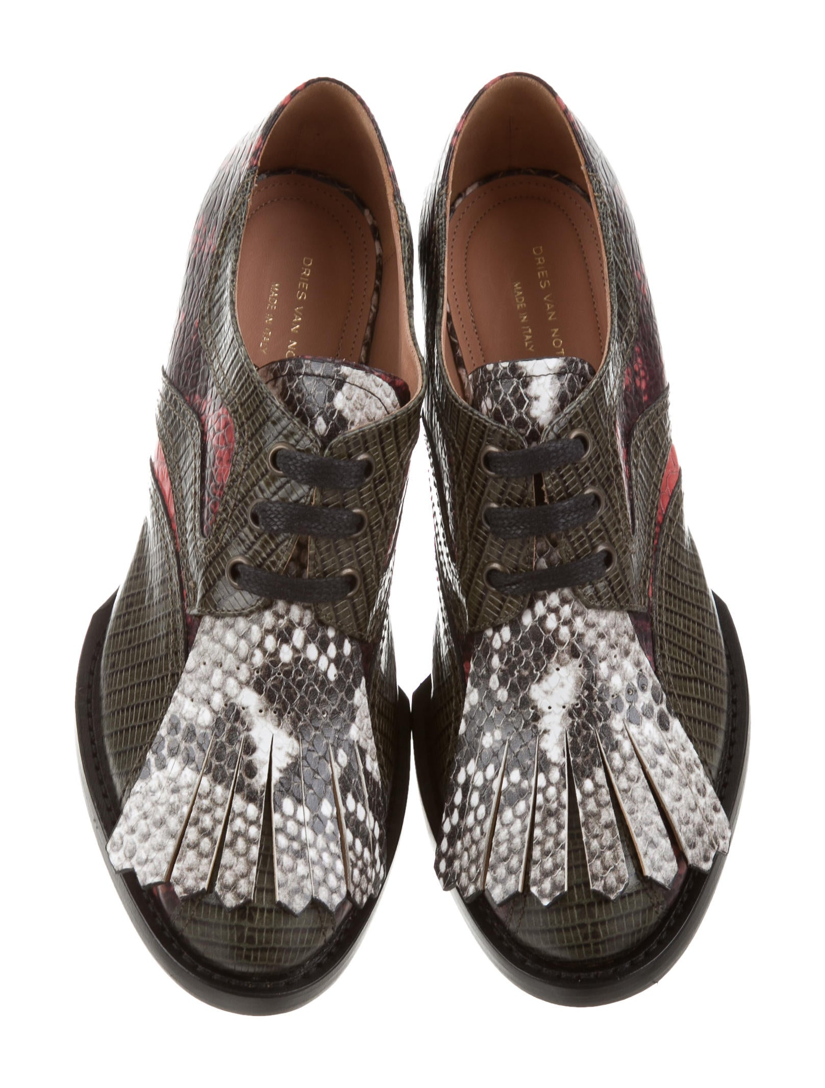 low price fee shipping Dries Van Noten Embossed Lace-Up Booties w/ Tags free shipping sneakernews buy cheap pick a best XeLTHj