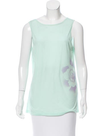 Dries Van Noten Floral-Accented Sleeveless Top None