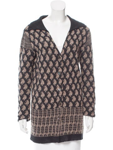 Dries Van Noten Pattern Knit Cardigan None