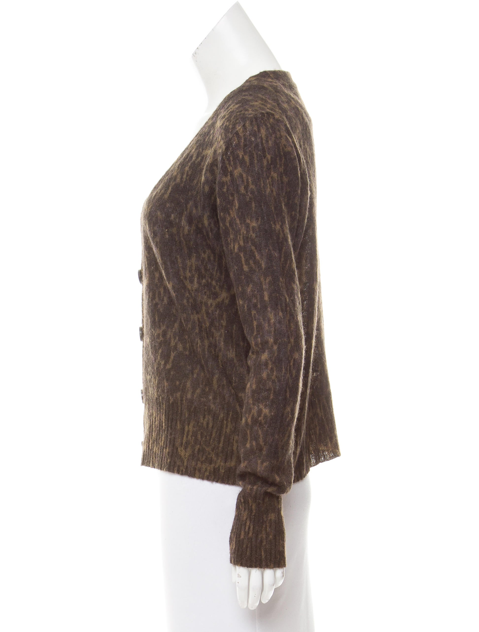 Dries Van Noten Leopard Print V-Neck Cardigan - Clothing ...