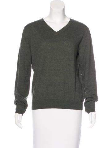 Dries Van Noten Wool-Blend V-Neck Sweater None