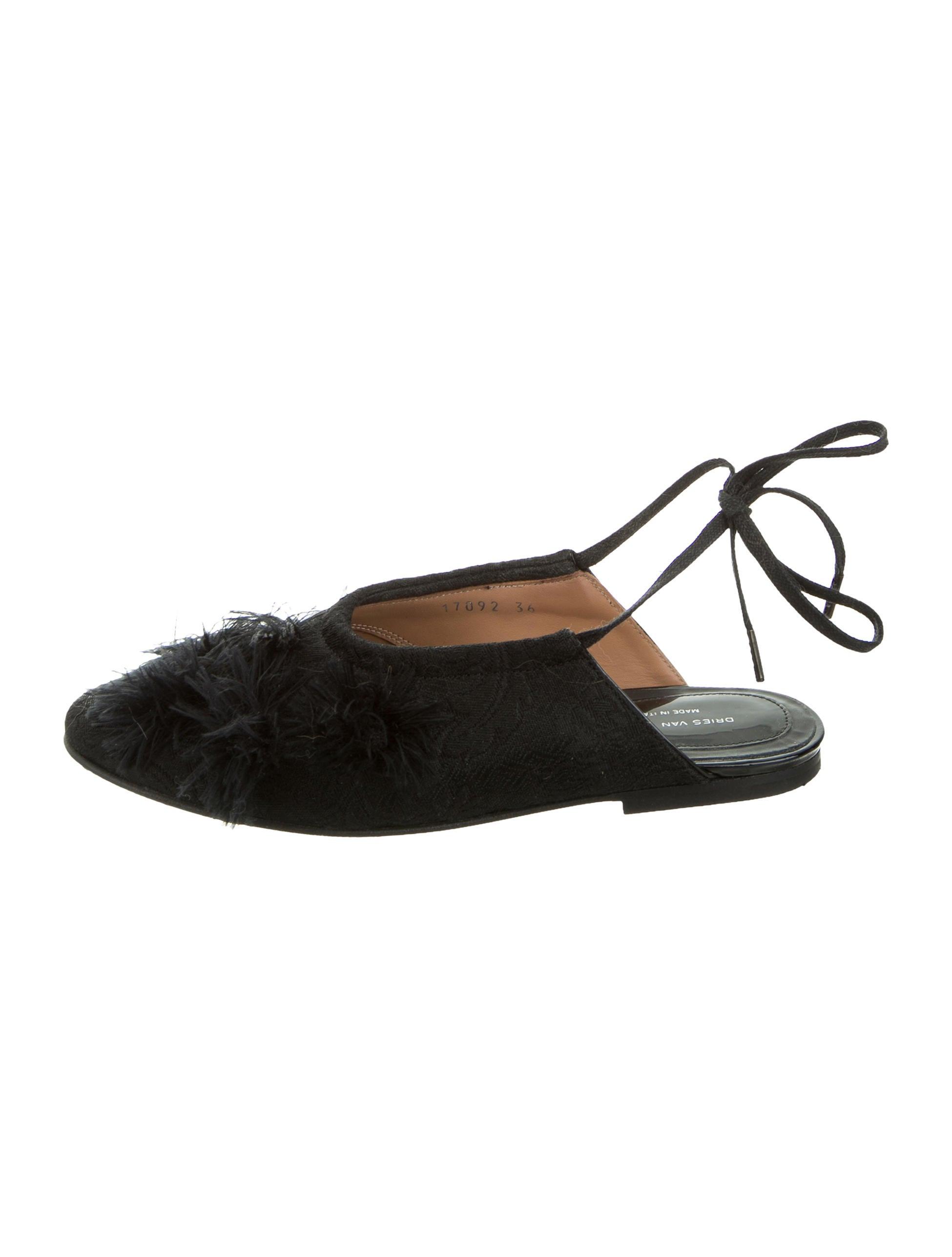 c76dafc7ae Dries Van Noten Woven Wrap-Around Flats - Shoes - DRI41735