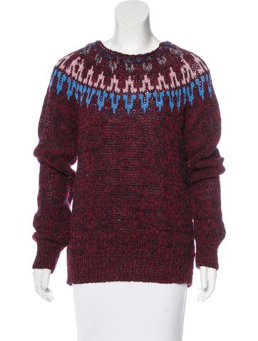 Dries Van Noten Patterned Wool-Blend Sweater None