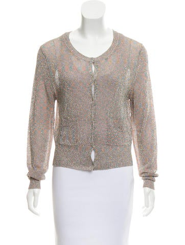Dries Van Noten Metallic Knit Cardigan None