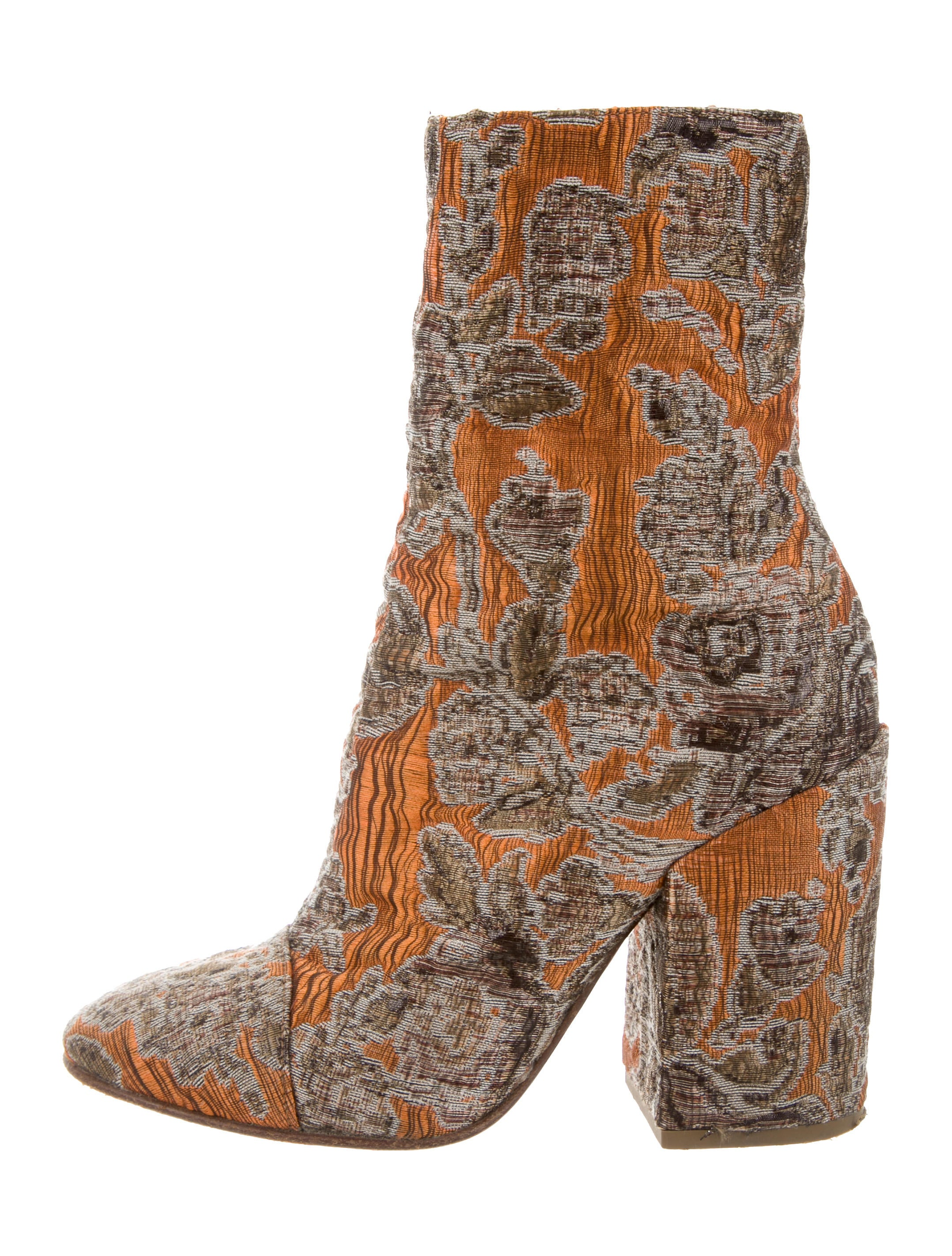 Dries Van Noten Multicolor Brocade Ankle Boots outlet with credit card fast delivery for sale shop for cheap price many kinds of online gkIlyp