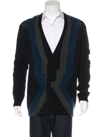 Dries Van Noten Wool & Alpaca Cardigan None