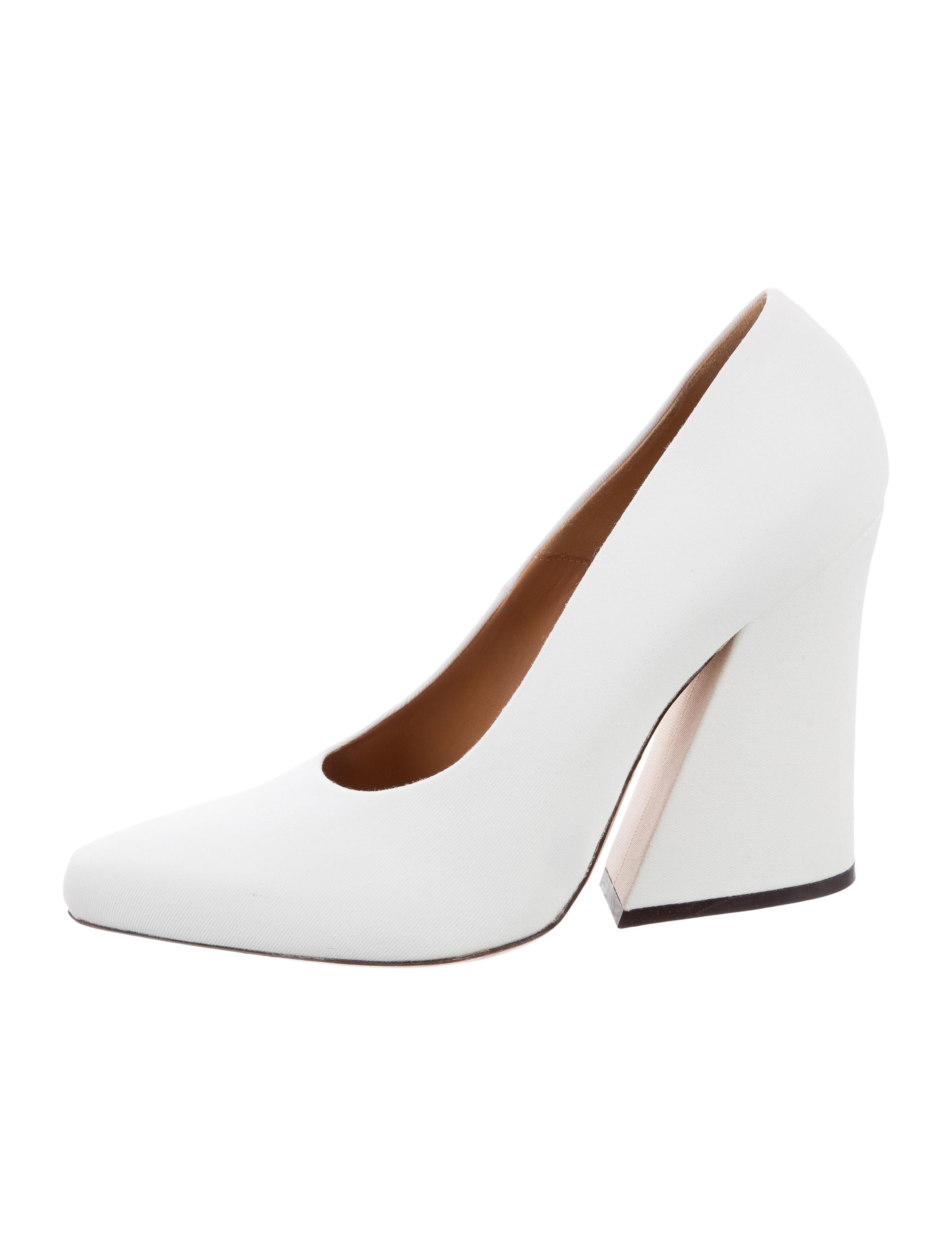 outlet free shipping authentic Dries Van Noten Canvas Round-Toe Pumps best place cheap price LB6IQx