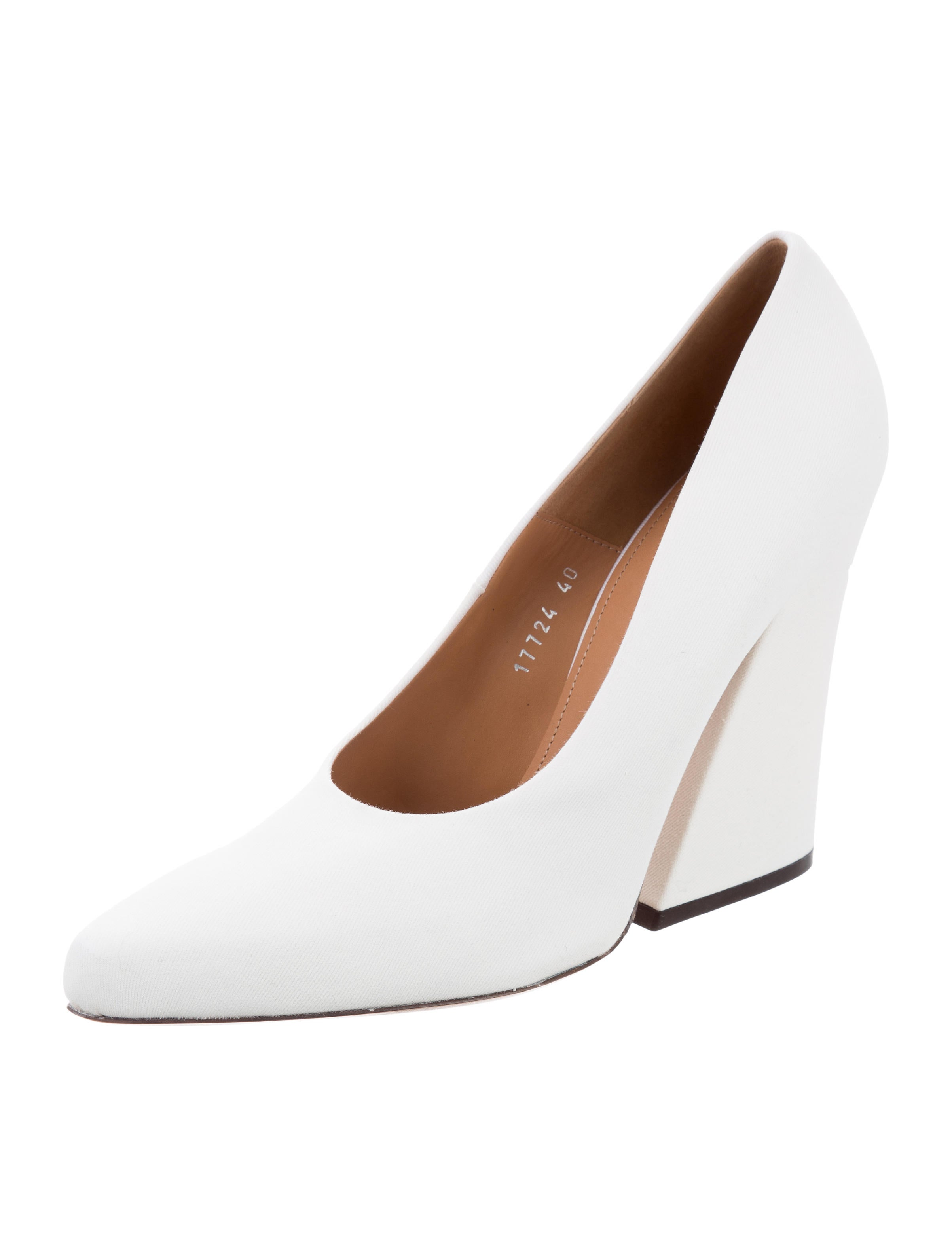 Dries Van Noten Canvas Pointed-Toe Pumps 100% original cheap online deals cheap price outlet online sale many kinds of ea38bGvjl