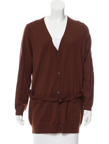 Dries Van Noten Belted Wool Cardigan None