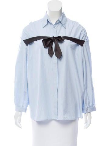 Dries Van Noten Striped Button-Up Top None
