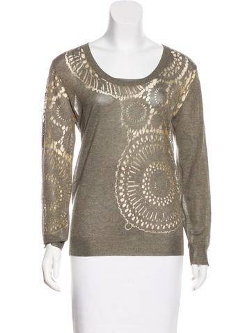 Dries Van Noten Patterned Knit Top None