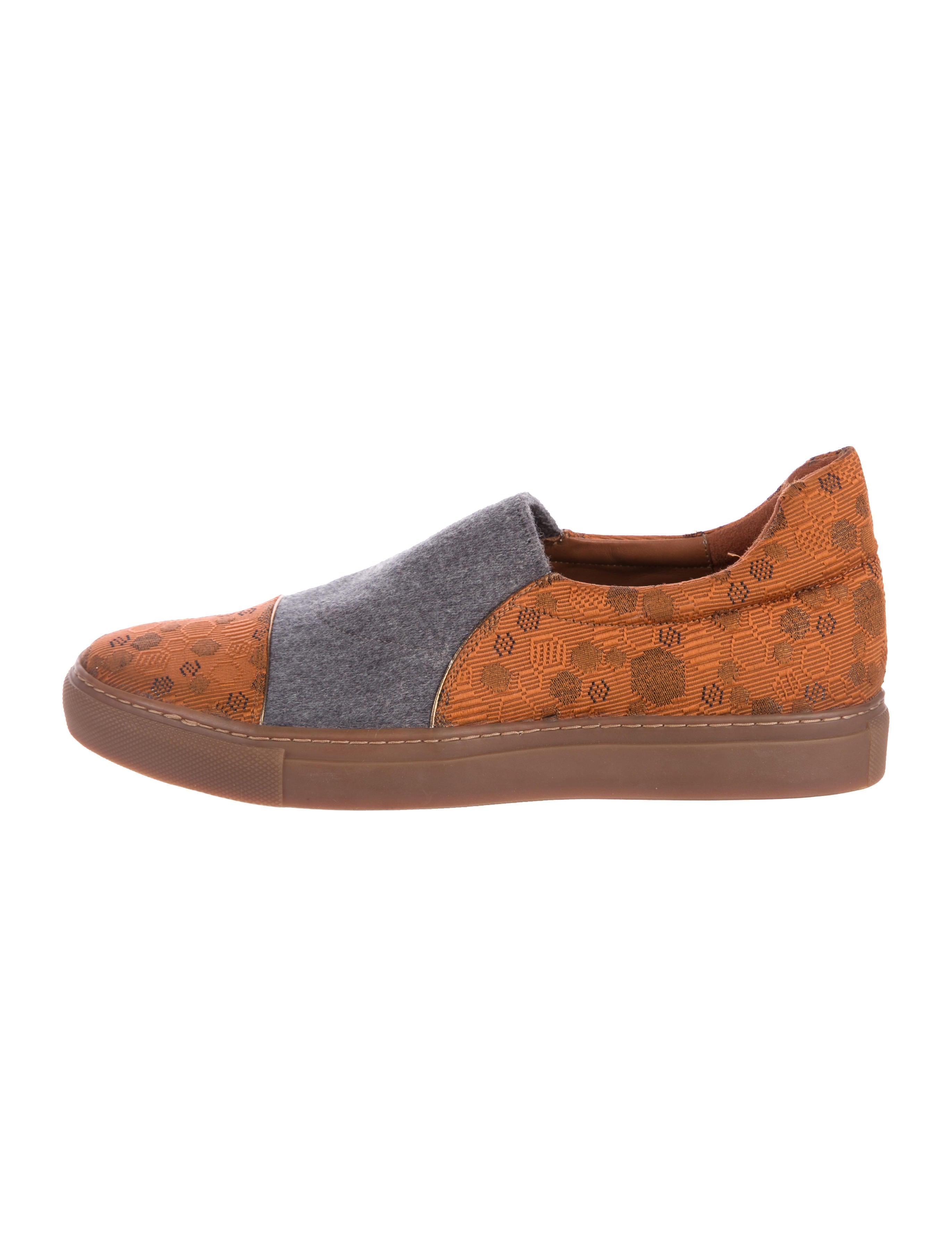 sale amazing price Dries Van Noten Woven Jacquard Slip-On Sneakers cheap sale finishline Qxwwq