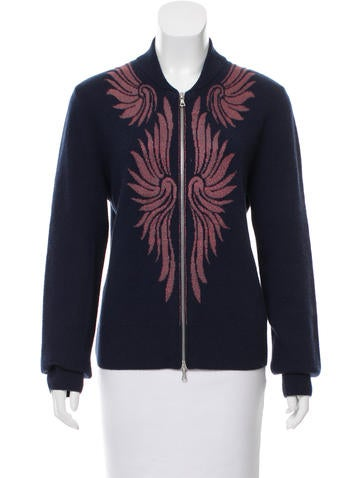 Dries Van Noten Lurex Intarsia Cashmere Cardigan None