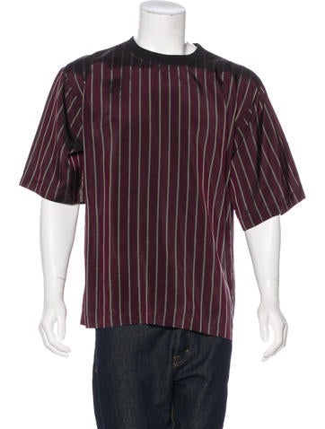 Dries Van Noten Striped Woven T-Shirt None