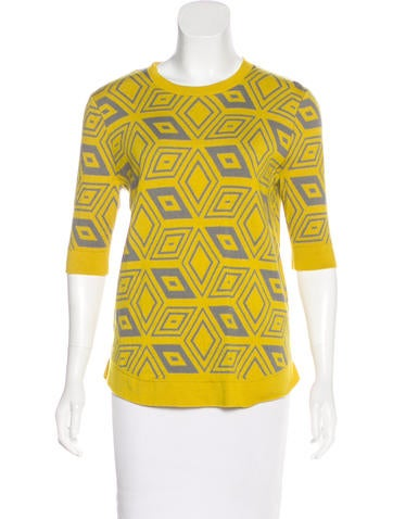 Dries Van Noten Patterned Wool Top None