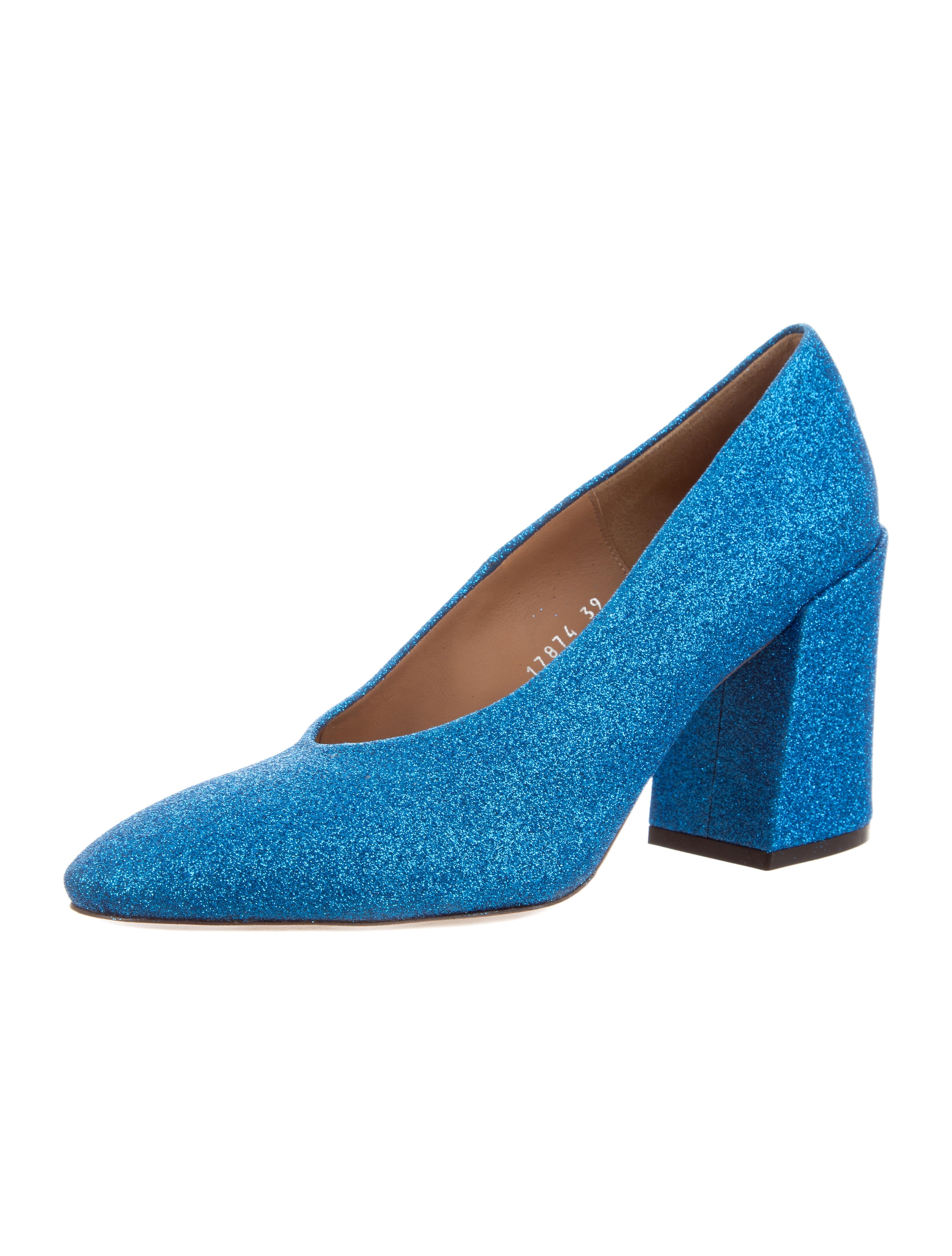Dries Van Noten Glitter Round-Toe Pumps w/ Tags cheap sale pay with visa footlocker finishline online discount factory outlet cheap prices reliable 42a7VqIyM