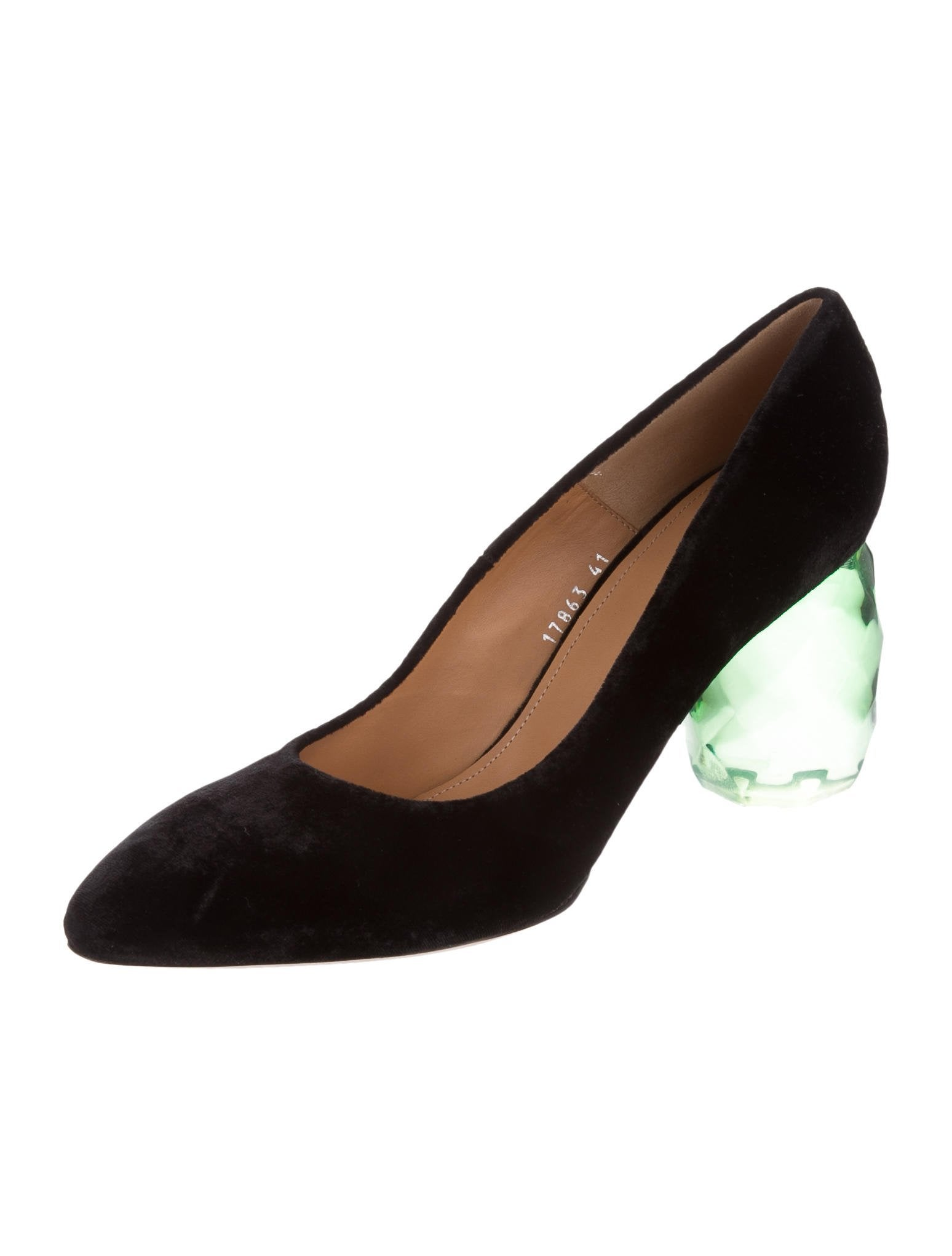 clearance best store to get free shipping deals Dries Van Noten Leather Semi Pointed-Toe Pumps 1nGsW