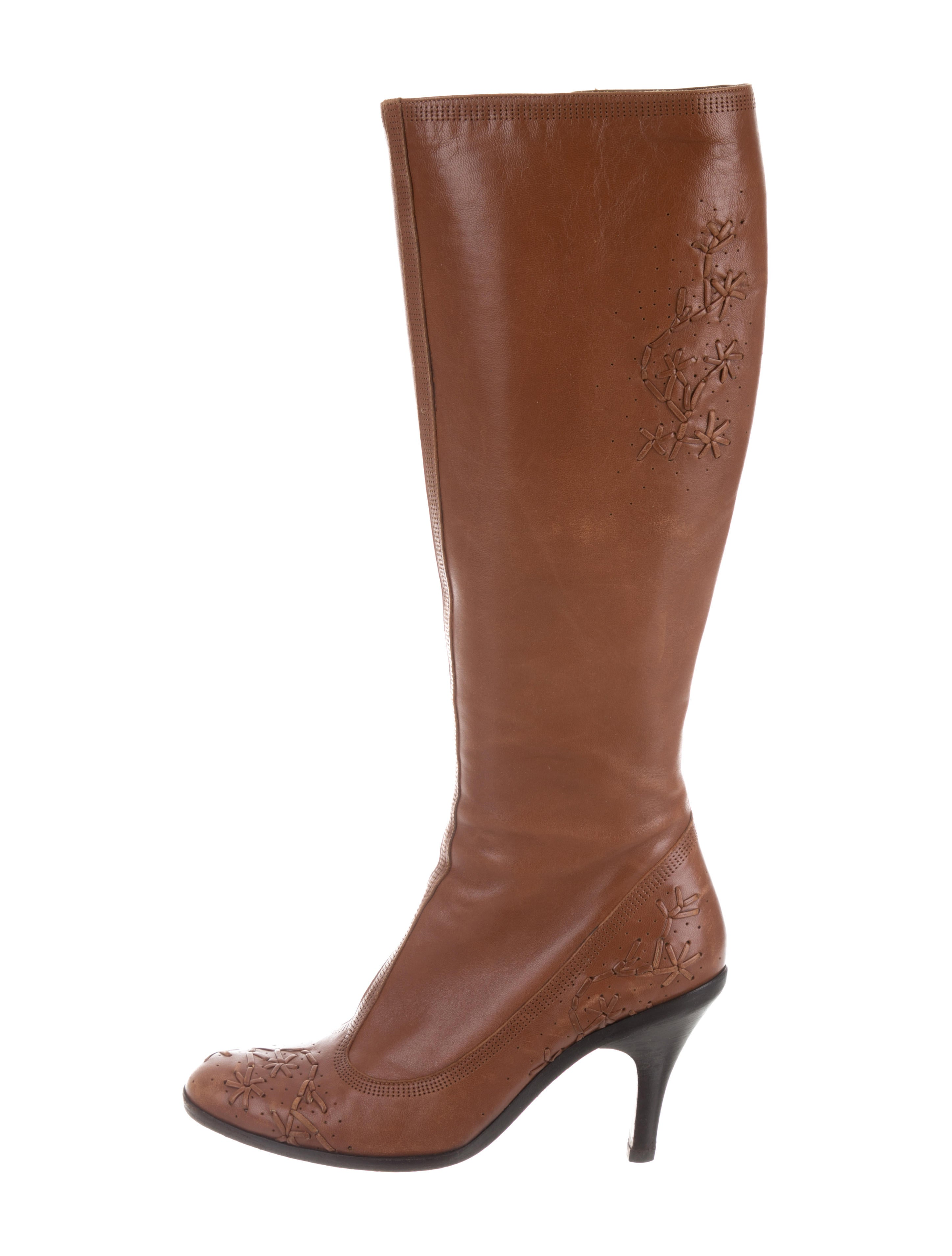 outlet Manchester Dries Van Noten Embroidered Knee-High Boots marketable cheap online M7Kh8qx4
