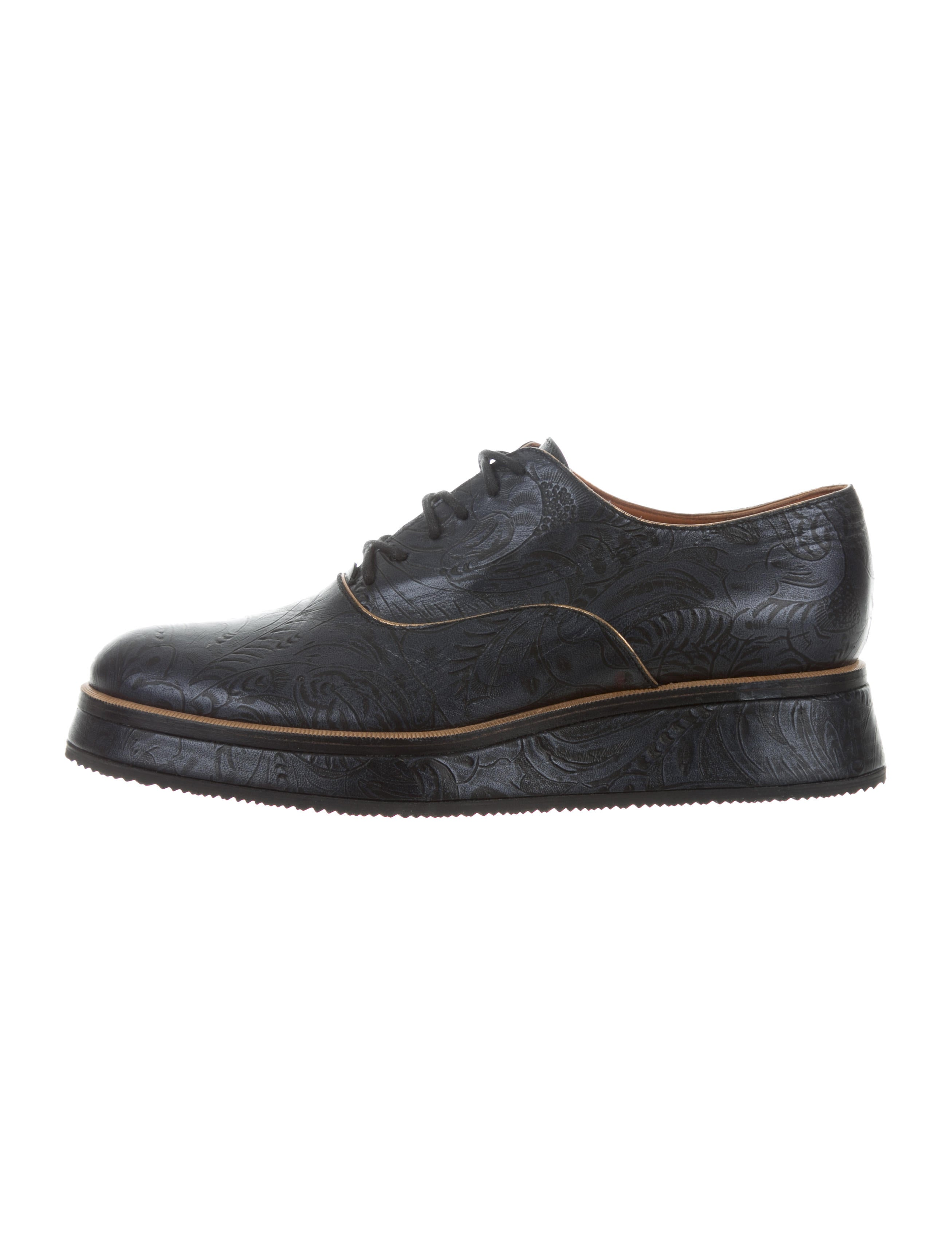 Dries Van Noten Embossed Flatform Oxfords newest for sale cheap price wholesale price clearance purchase sale eastbay 9Vs3A1k