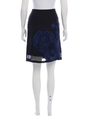 Silk Knee-Length Skirt