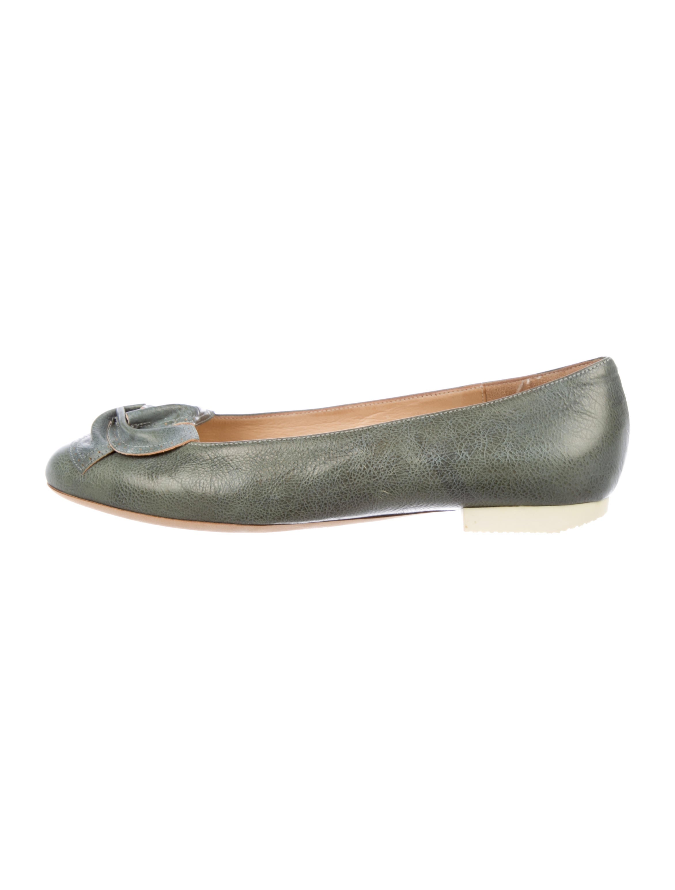Dries Van Noten Leather Ruched Flats geniue stockist for sale cheap sale high quality RMggCrT
