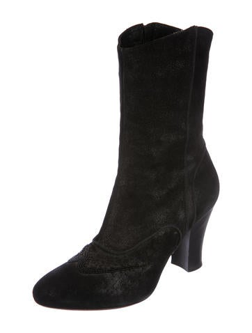 Dries Van Noten Leather Embellished Mid-Calf Boots best deals rG4kiV2