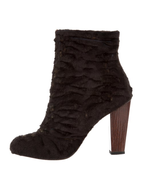 Dries Van Noten Shearling Ankle Boots