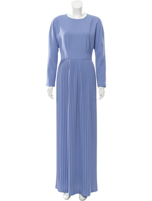 Dries Van Noten Pleated Dress blue