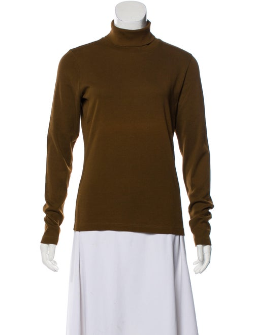 Dries Van Noten Long Sleeve Turtleneck Top Brown