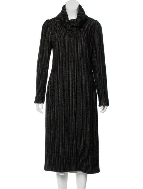 Dries Van Noten Striped Coat Black