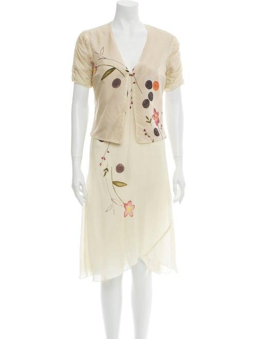Dries Van Noten Graphic Print Dress Set